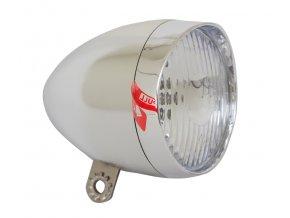 Světlo přední LED RETRO chromové