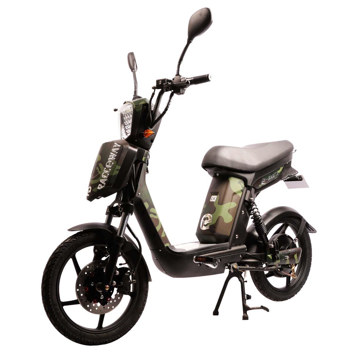 Elektrický motocykl RACCEWAY E-BABETA Barva: maskáč zelený