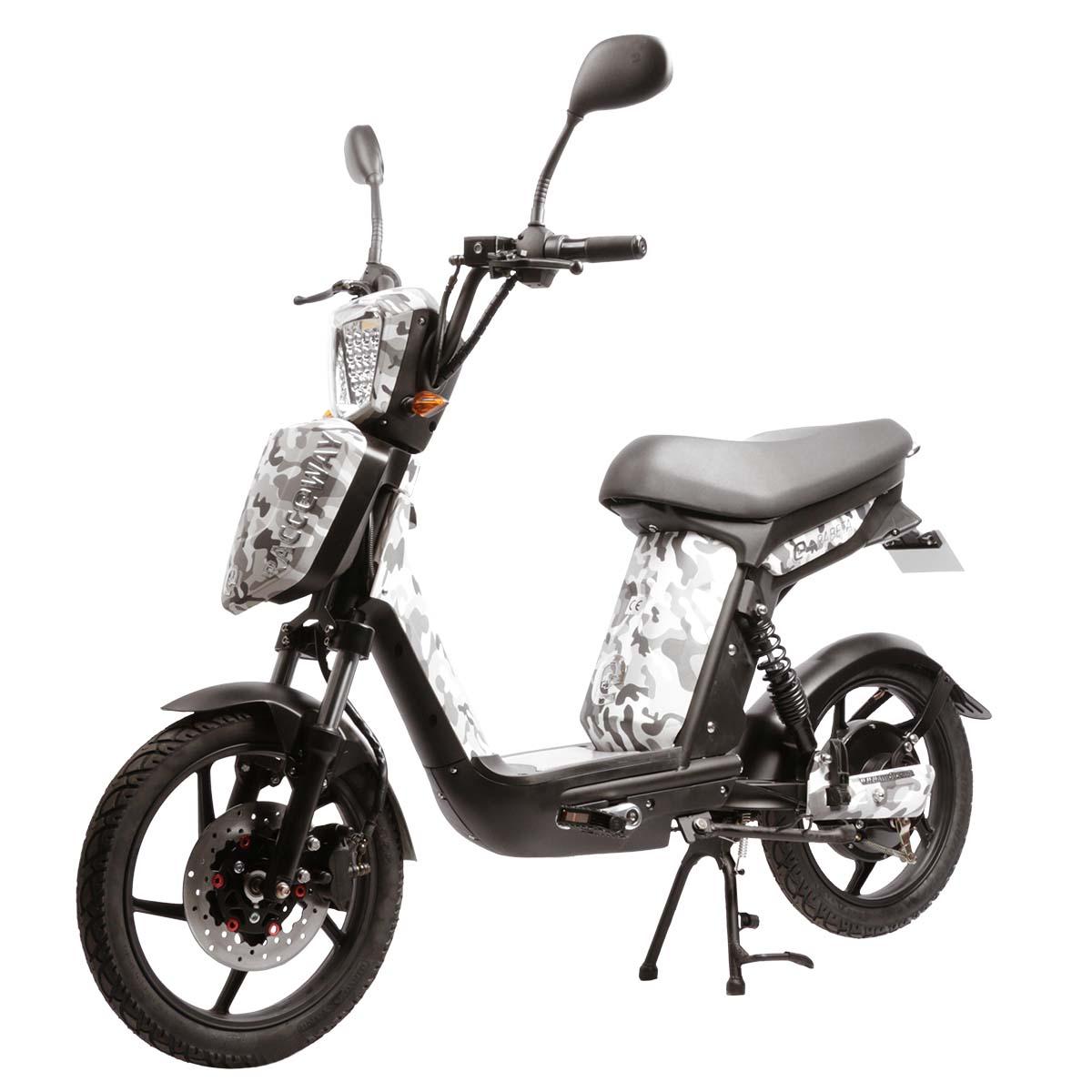 Elektrický motocykl RACCEWAY E-BABETA Barva: maskáč čeno bílý