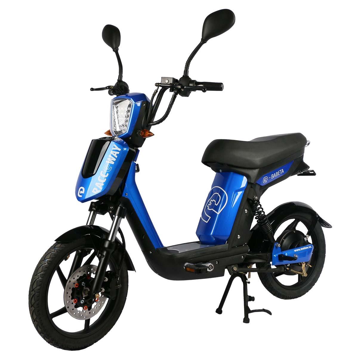 Elektrický motocykl RACCEWAY E-BABETA Barva: Modrá