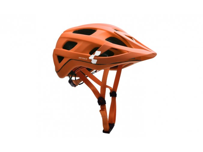 CUBE Helm AM RACE - orange´n´white