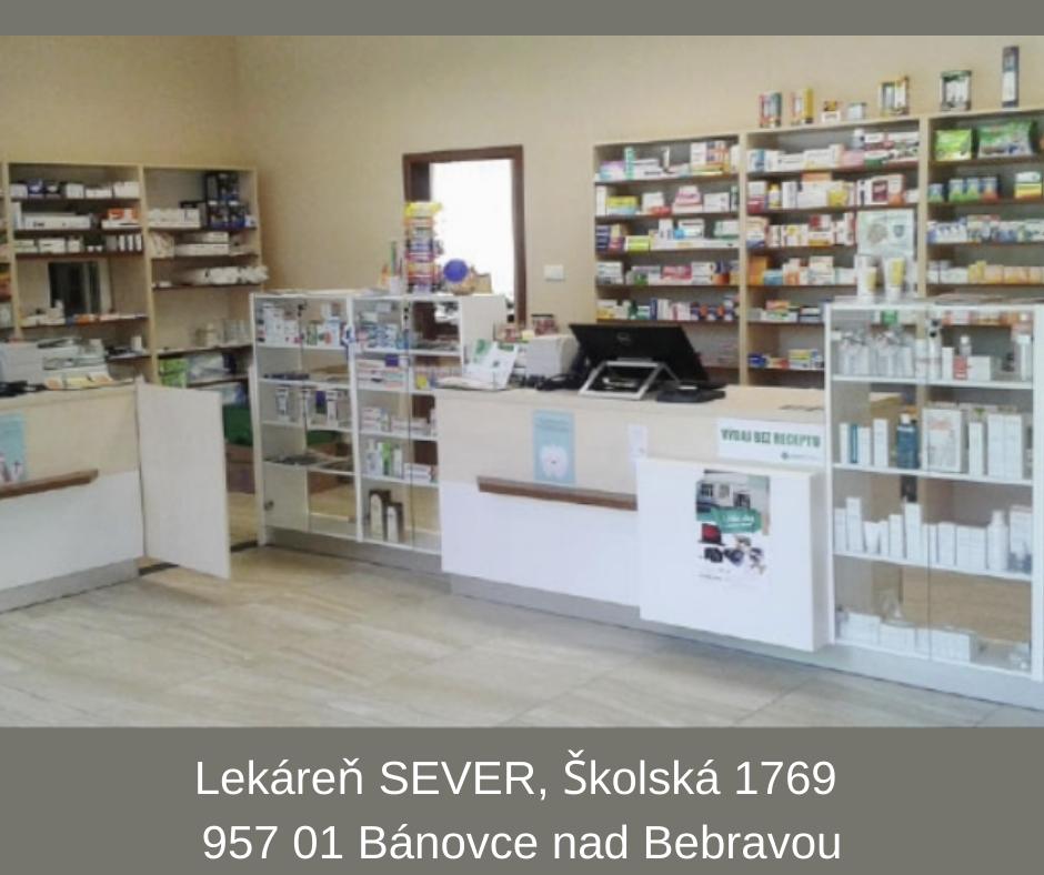 Lekáreň SEVER, Školská 1769, 957 01 Bánovce nad Bebravou