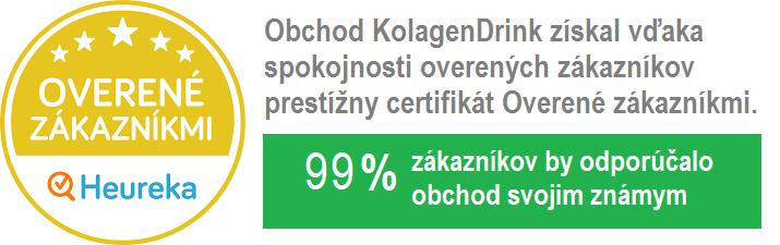 overené zákazníkmi KolagenDrink 99