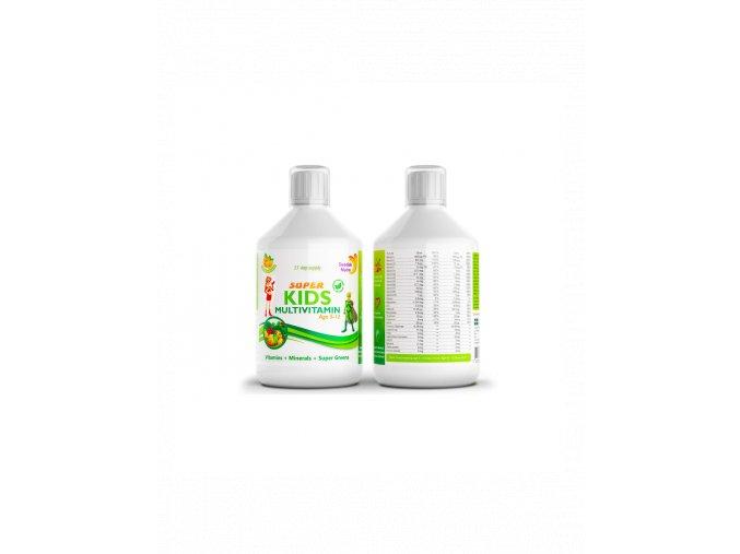 Swedish Nutra Super Kids Multivitamin vitamíny pre deti 500 ml