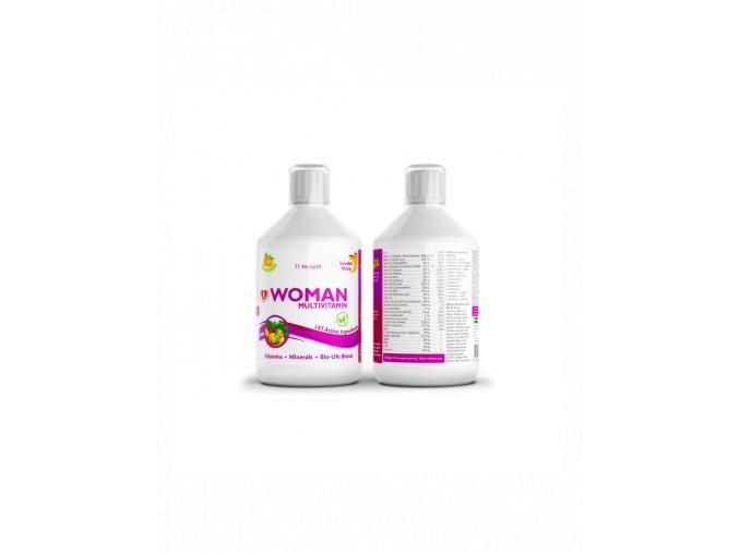 Swedish Nutra Woman Multivitamin výživový doplnok pre ženy 500 ml