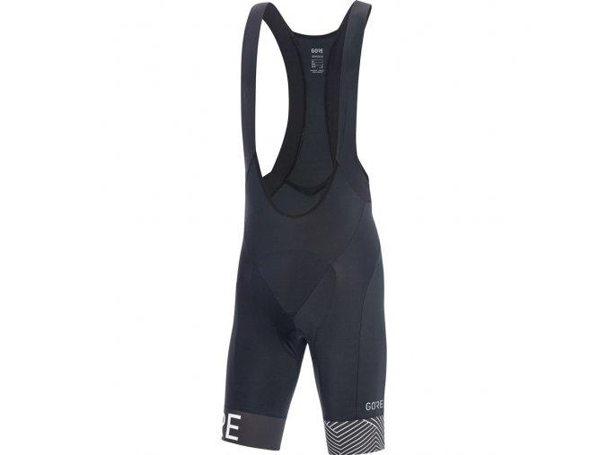 GORE C5 Optiline Bib Shorts+ black/white front