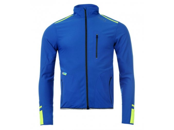 Gore jacket X Run Ultra Soft Shell Light jacket blue yellow