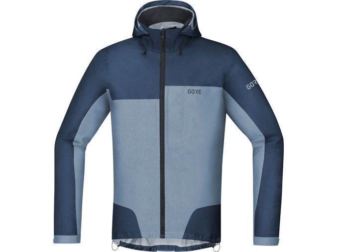 Gore C5 GORE-TEX Active Trail Hooded Jacket DEEP WATER BLUE/CLOUDY BLUE front