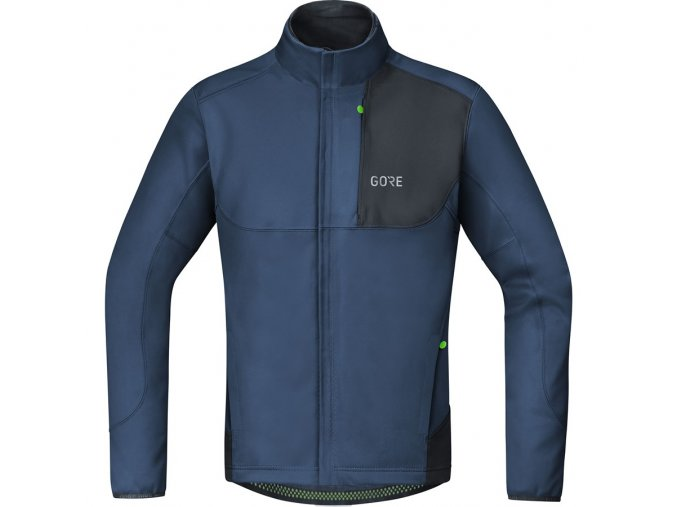 GORE C5 WINDSTOPPER Thermo Trail Jacket deep water blue/black front