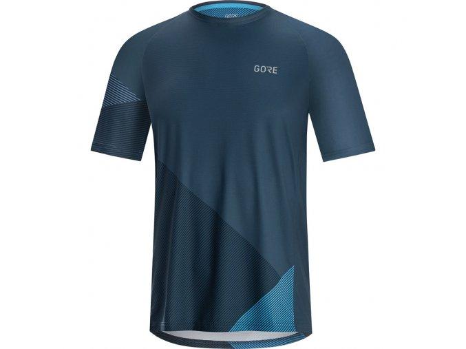 GORE C5 Trail Short Sleeve Jersey deep water blue! dynamic cyan