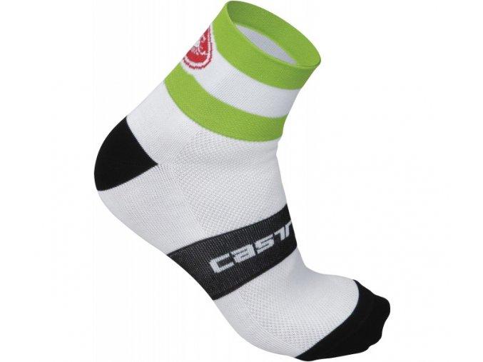 castelli velocissimo ds socks 6cm white acid green ead