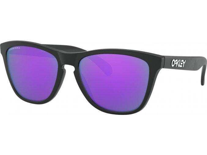 oakley frogskins matte black w prizm violet 1
