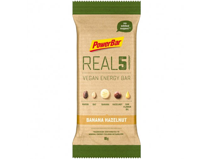 PowerBar REAL5 + Magnesium banana hazelnut