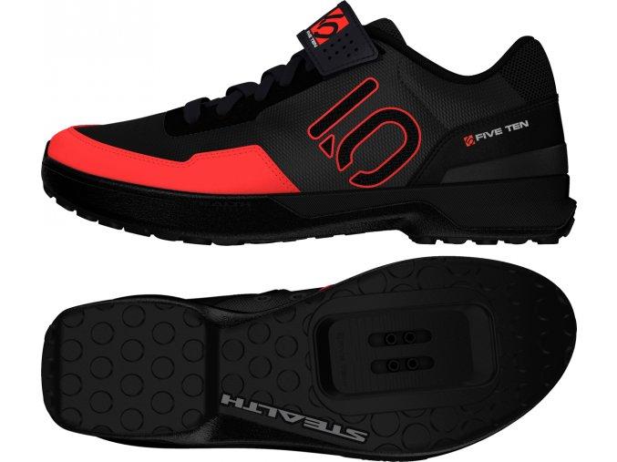 Five Ten Kestrel Black Solid Red