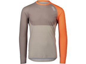 OC MTB Pure LS Jersey Zink Orange Moonstone Grey Lt Sandstone Beige 1