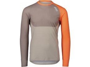 OC MTB Pure LS Jersey Zink Orange Moonstone Grey Lt Sandstone Beige 1