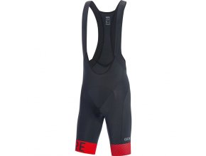 GORE C5 Optiline Bib Shorts+ black/red front