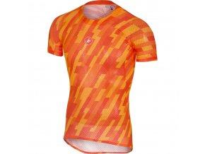 Castelli Pro Mesh Short Sleeve orange front