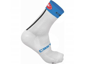 Castelli Free 9 Socks Cycling Socks White Blue SS17 CS1304015909