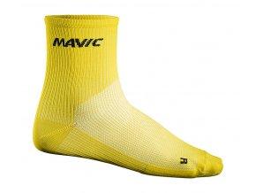 Mavic Cosmic Mid Sock yellow mavic