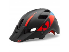 Giro Feature Helmet MTB Helmets Black Red Blue 2016 GIHFEAB51S5