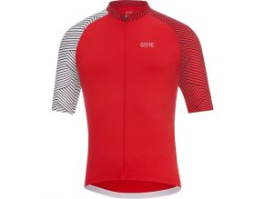 GORE C5 Optiline Jersey-red/white front