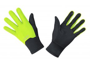 Gore M WindStopper Gloves BLACK/NEON YELLOW