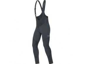 Gore C3 Windstopper Bib Tights black front