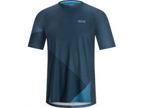 GORE C5 Trail Short Sleeve Jersey deep water blue! dynamic cyan