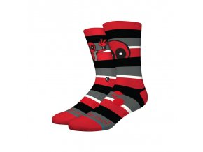stance socks deadpool stripe dea red