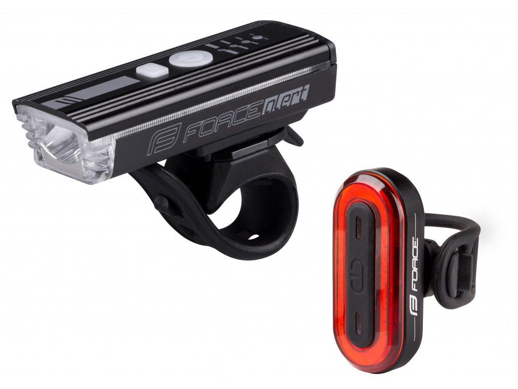 světla sada FORCE FUTURO USB přední+zadní