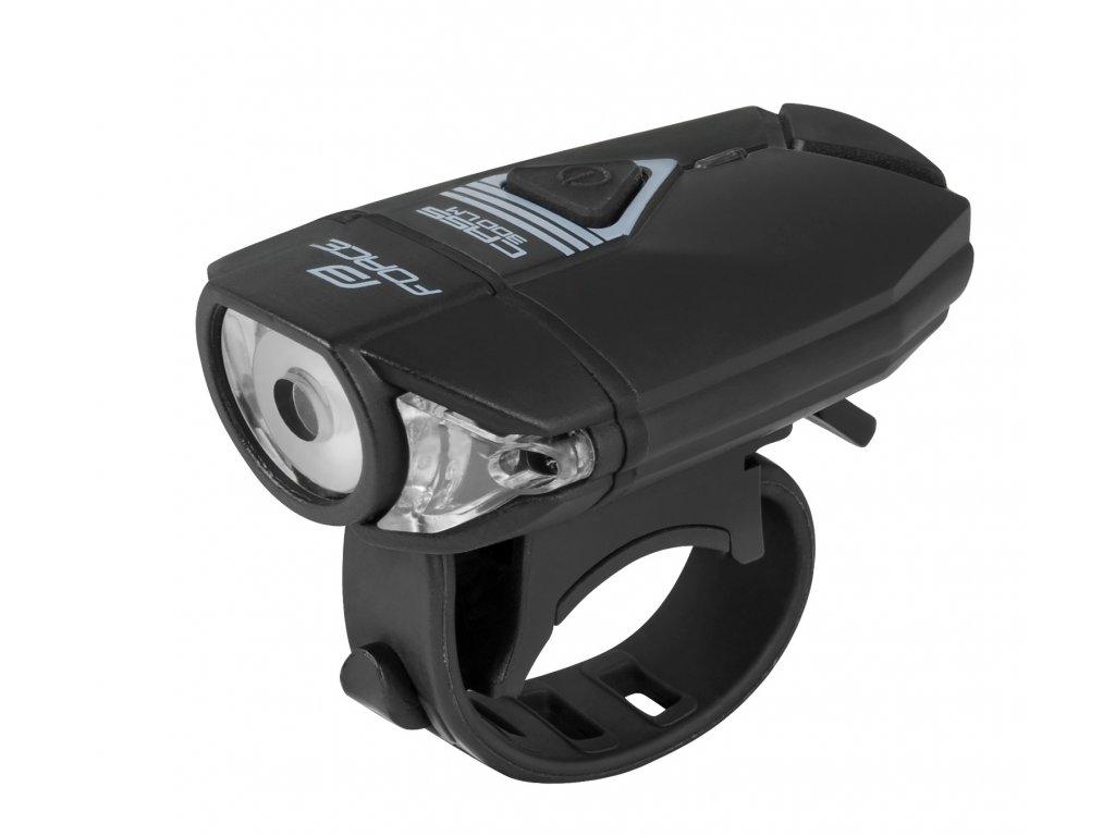 světlo přední FORCE CASS 300LM USB, II. JAKOST