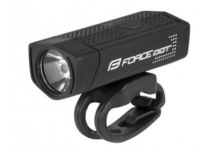 světlo přední FORCE DOT 300LM USB, černé