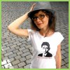 Kafka and bike t shirt Prague women