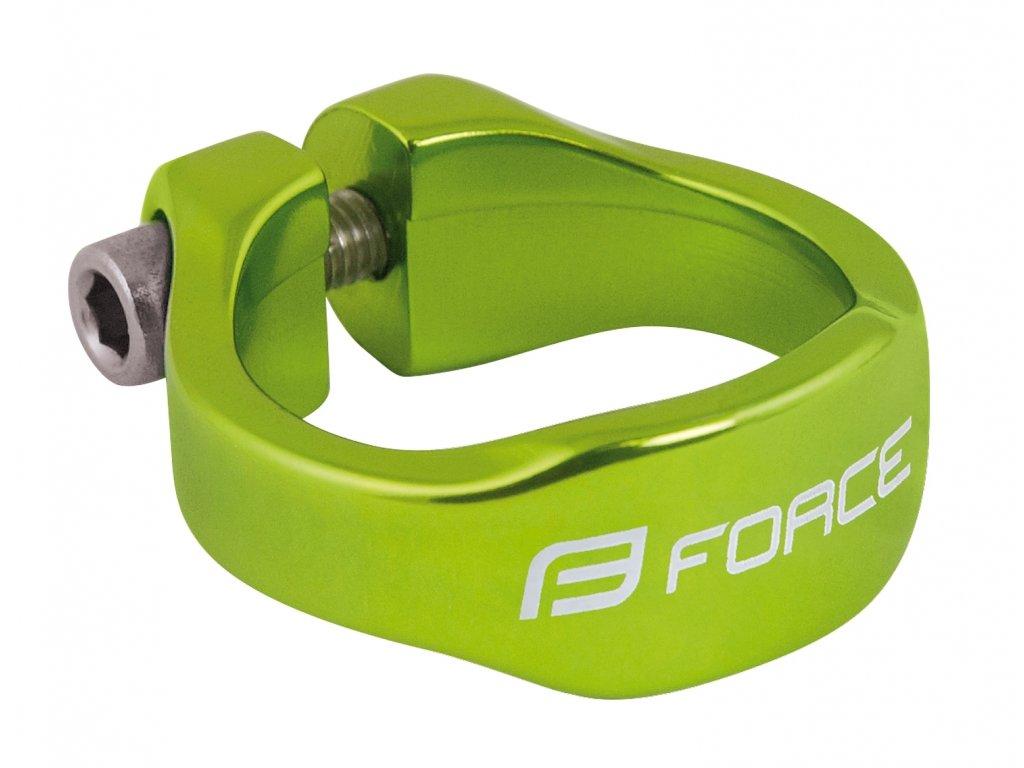 objímka sedlovky FORCE na inbus 34,9mm Al, zelená