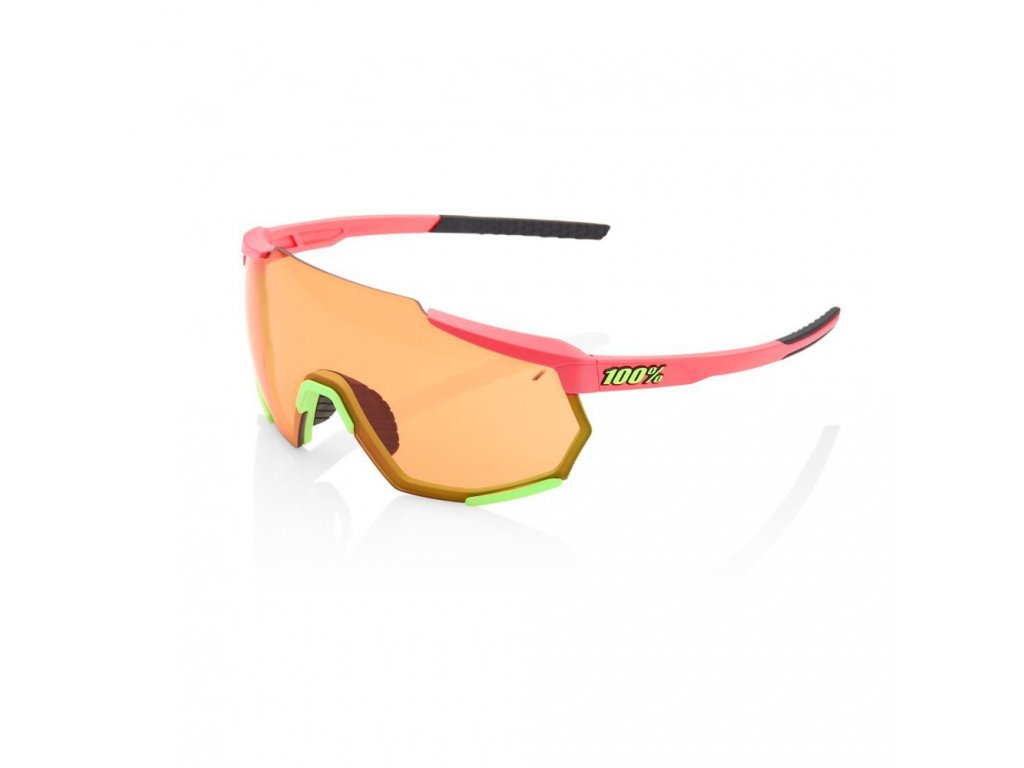 racetrap matte washed out neon pink persimmon lens