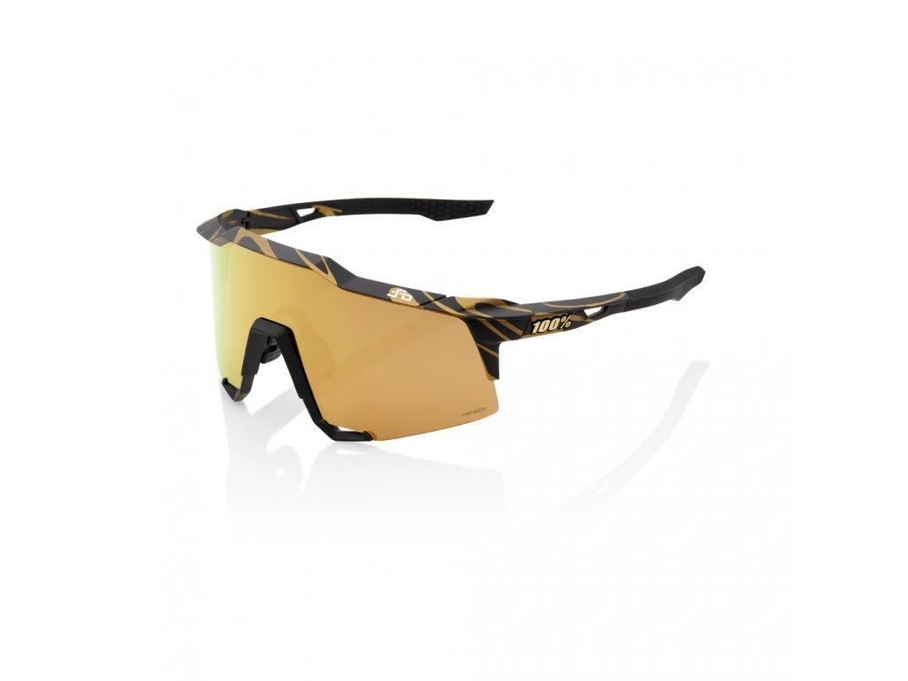 speedcraft peter sagan le metallic gold flake hiper gold mirror lens