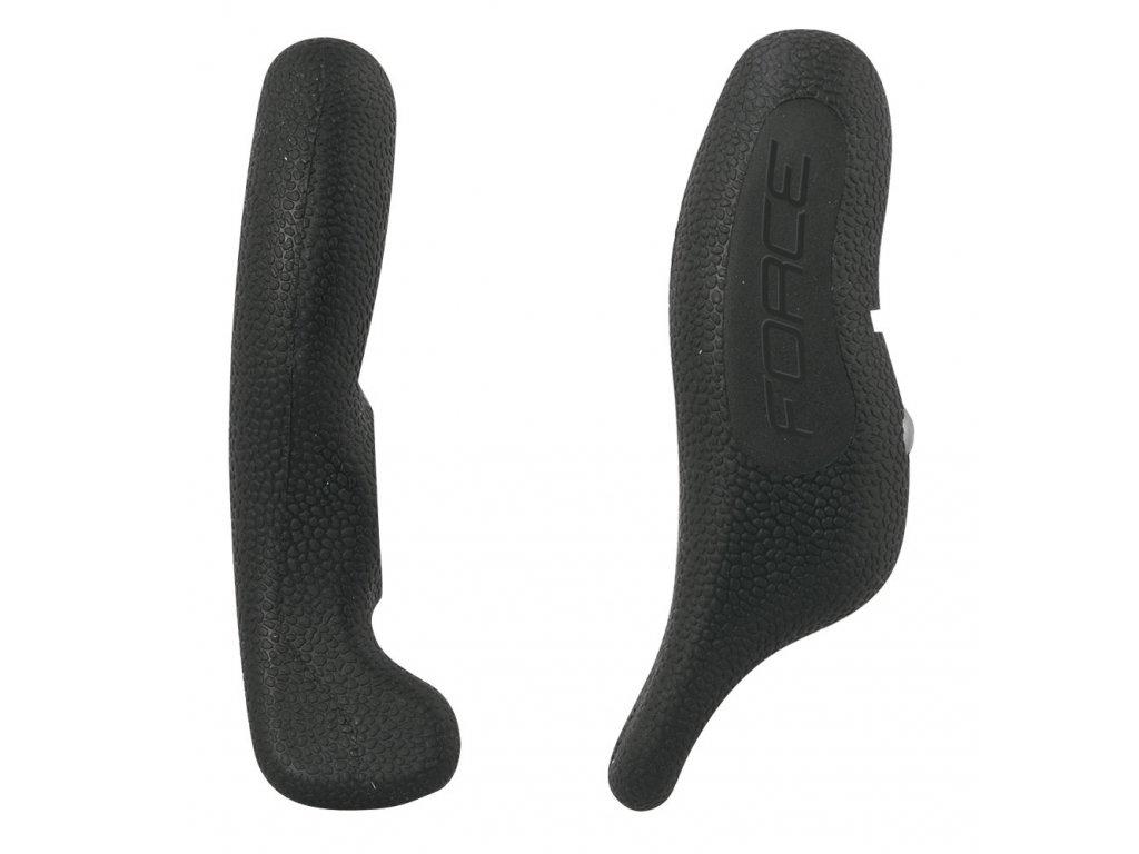rohy FORCE RAB 12 cm AL+guma, černé