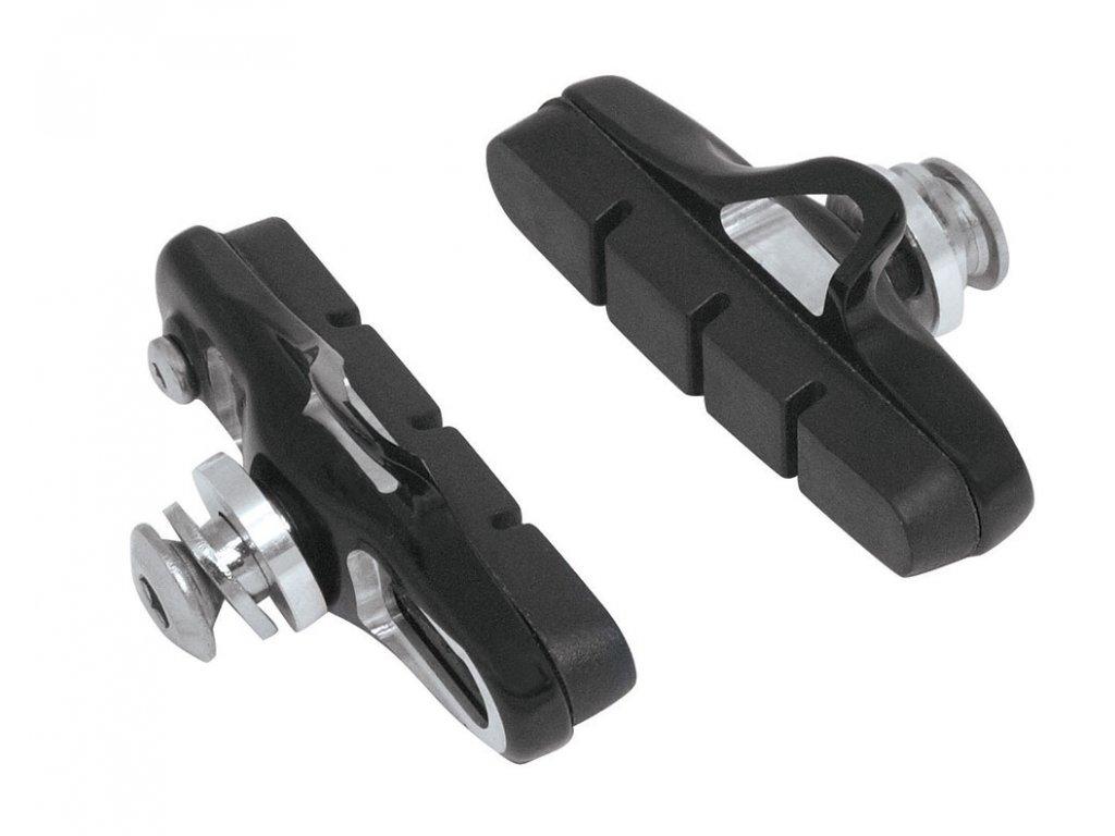 gumičky brzd F silniční výměnné CNC, černé 55mm