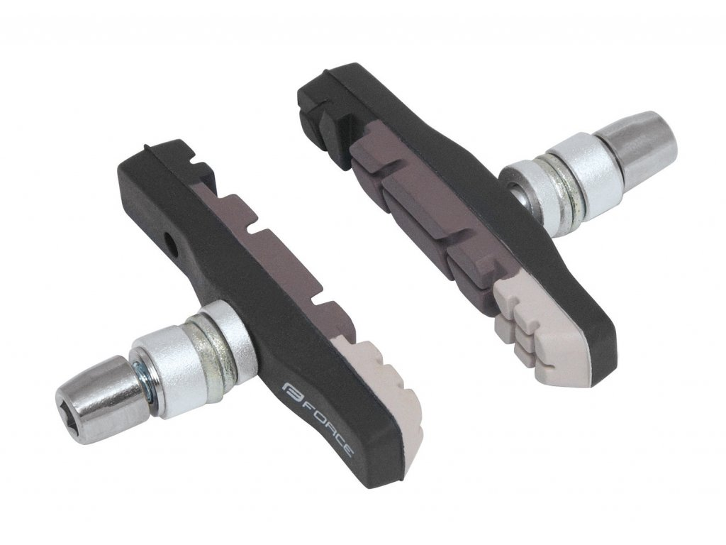 gumičky brzd F jednorázové, černo-šedé 70mm
