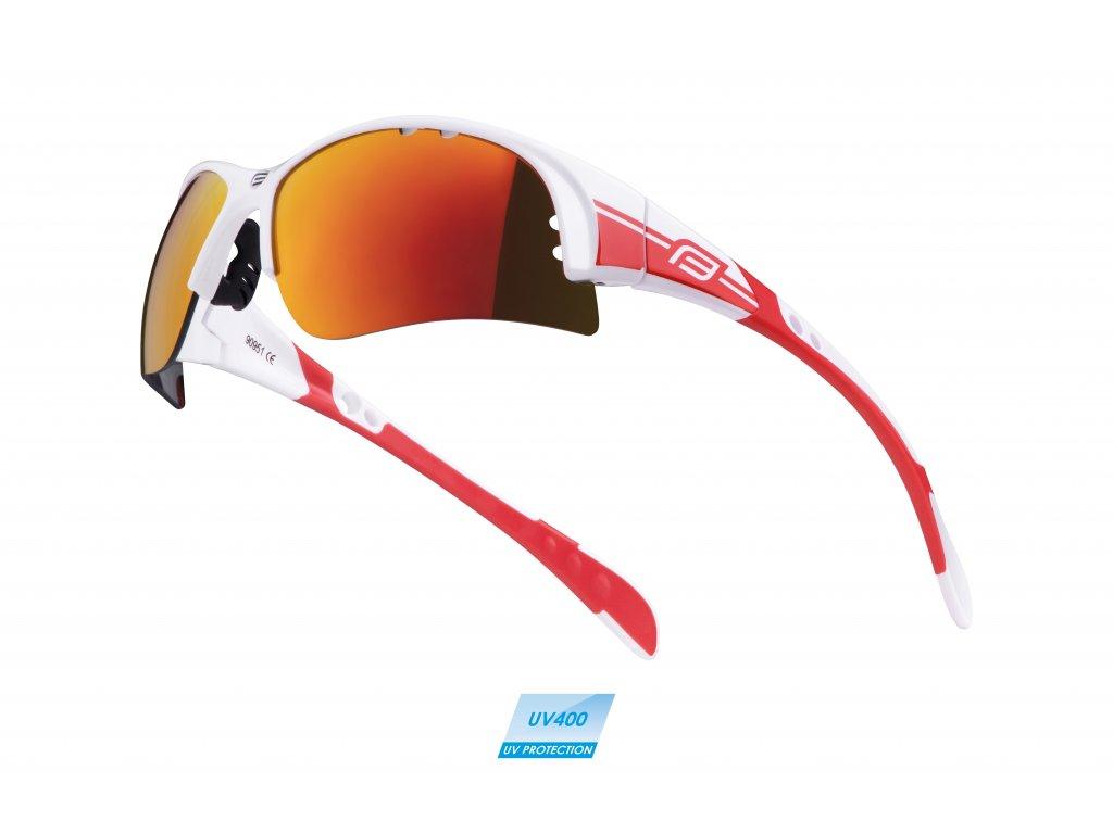 brýle FORCE ULTRA bílé, červená skla