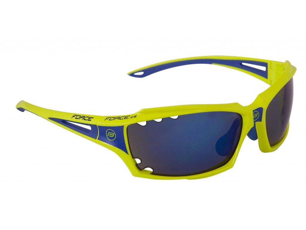 brýle FORCE VISION fluo, modrá laser skla