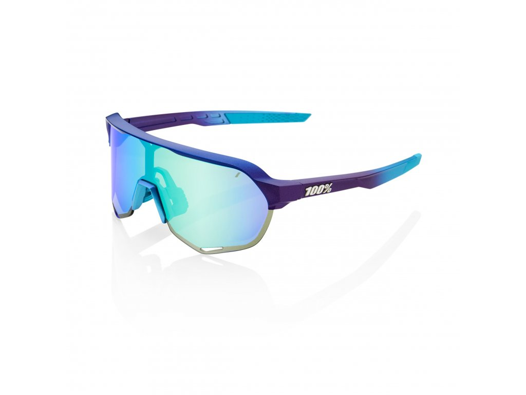 s2 matte metallic into the fade blue topaz multilayer mirror lens
