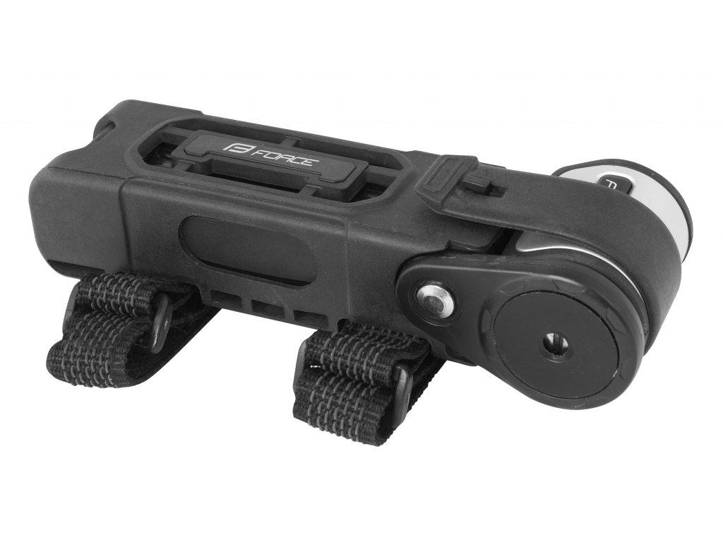 zámek F FOLD skládací 80 cm, 6 článků, černý+držák