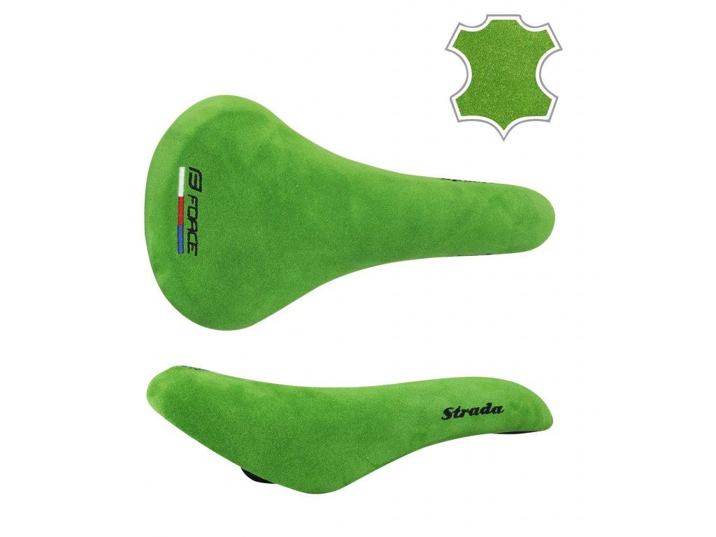 sedlo FORCE STRADA sportovní retro, nubuk, zelené