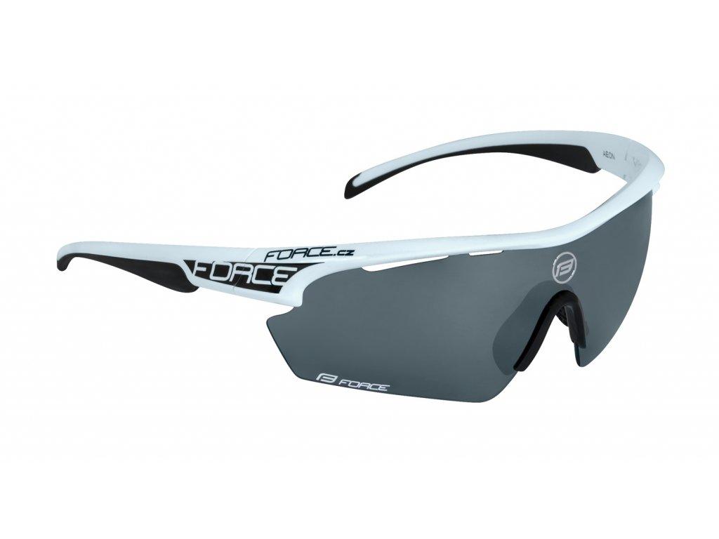 brýle FORCE AEON, bílo-černé, černá laser skla