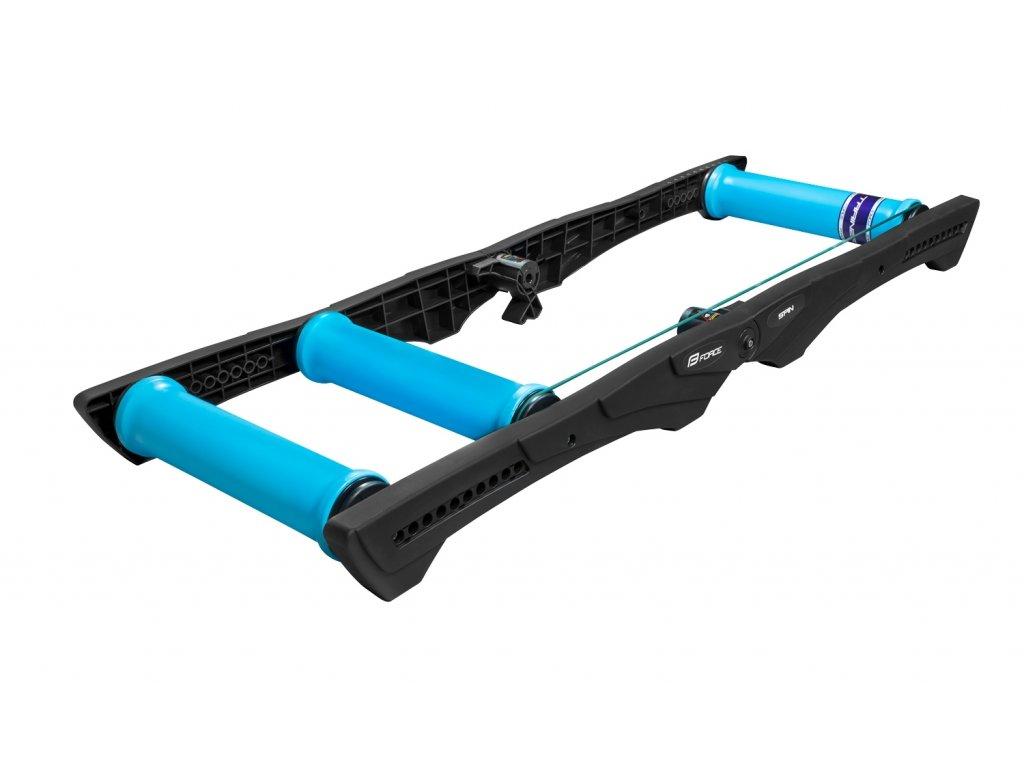 válce FORCE SPIN tréninkové, plast, černo-modré