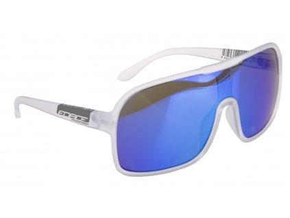 brýle FORCE MONDO bílé transparentní, modrá skla