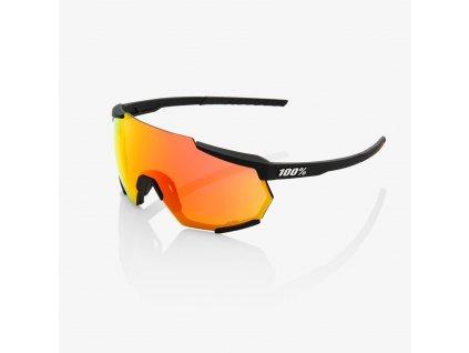 100% Brýle Racetrap Soft Tact Black HiPER Red Multilayer Mirror Lens