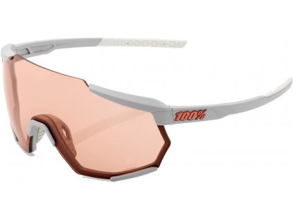 100% Brýle Racetrap Soft Tact Stone Gray HiPER Coral Lens